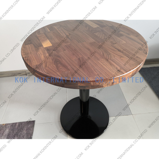 round solid wood coffee table butcher worktop countertop